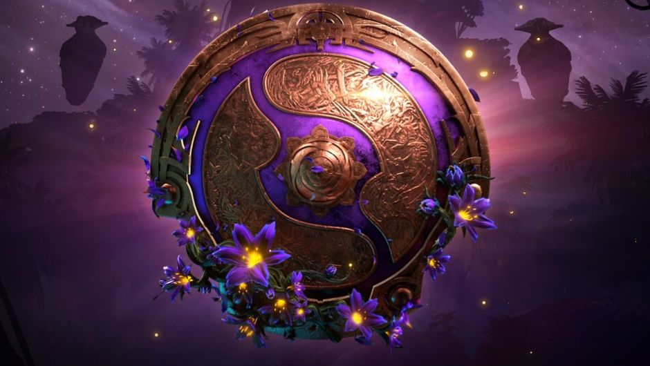 DOTA 2 shield amblem logo for international tournament of 2019