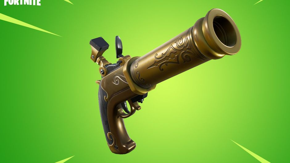 Picture of a new gun in Fortnite Battle Royale