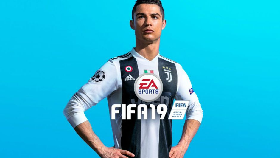 Picture of Ronaldo on FIFA 19 cover