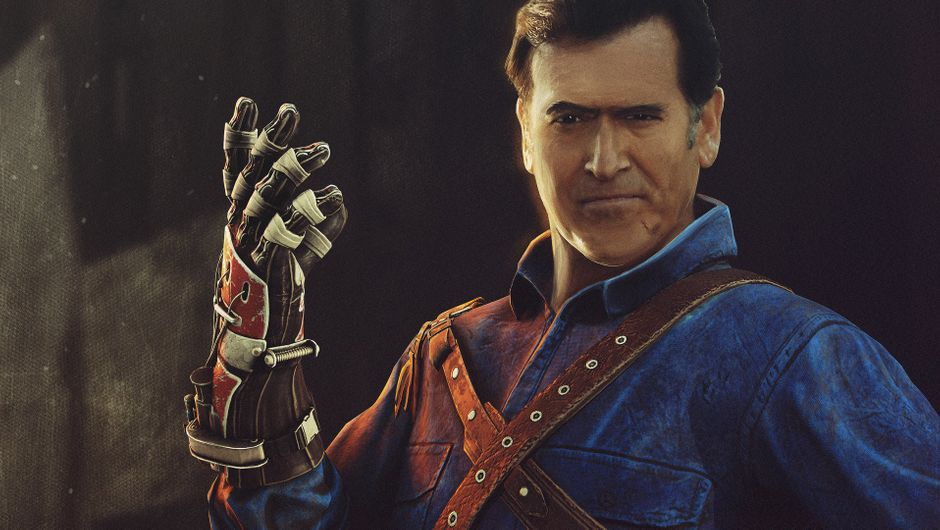 screenshot showing Ash Williams in Dead By Daylight