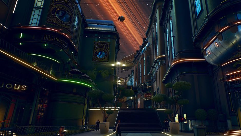 A city setting from Obsidian Entertainment's The Outer Worlds