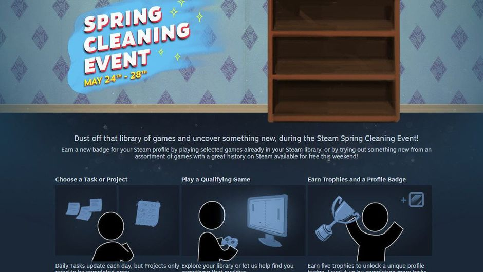 Screenshot of Steam Spring Cleaning event