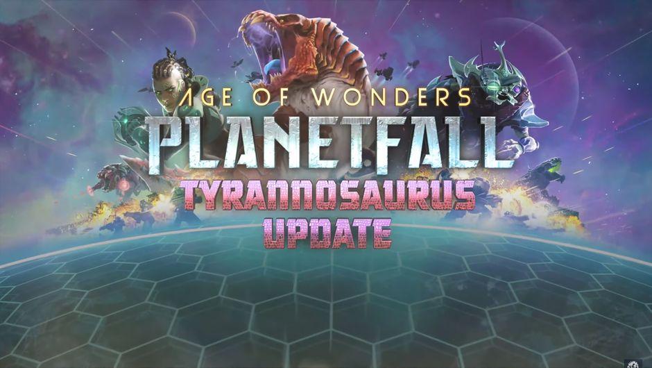 Age of Wonders: Planetfall - The Tyrannosaurus Update promo image