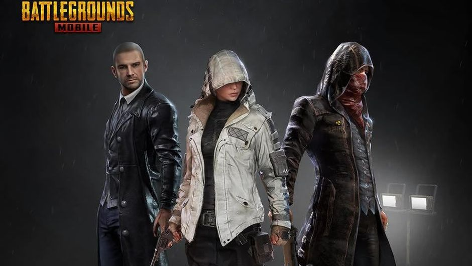 PUBG Mobile poster showing three in-game characters