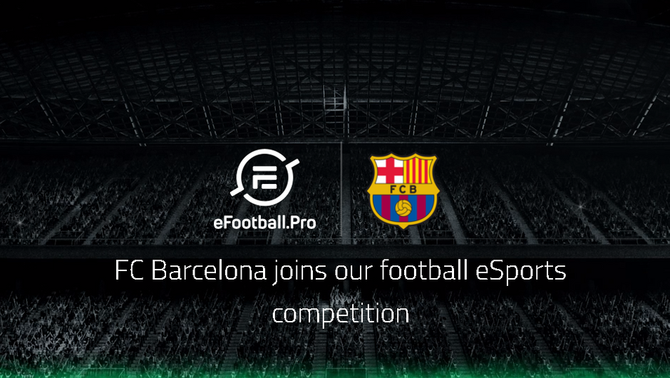 FC Barcelona joins the Konami and eFootball.Pro league logo