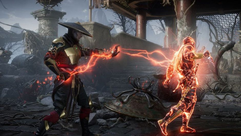 picture showing two characters fighting