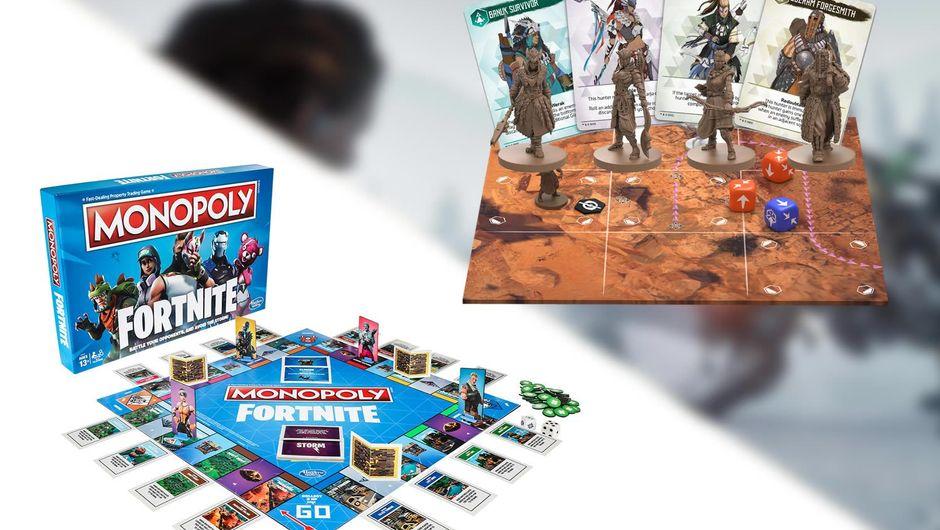 Fortnite Monopoly and Horizon: Zero Dawn The Board Game