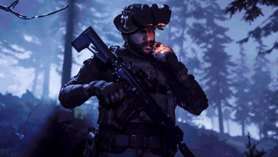 Call of Duty: Modern Warfare screenshot showing captain price smoking a cigar