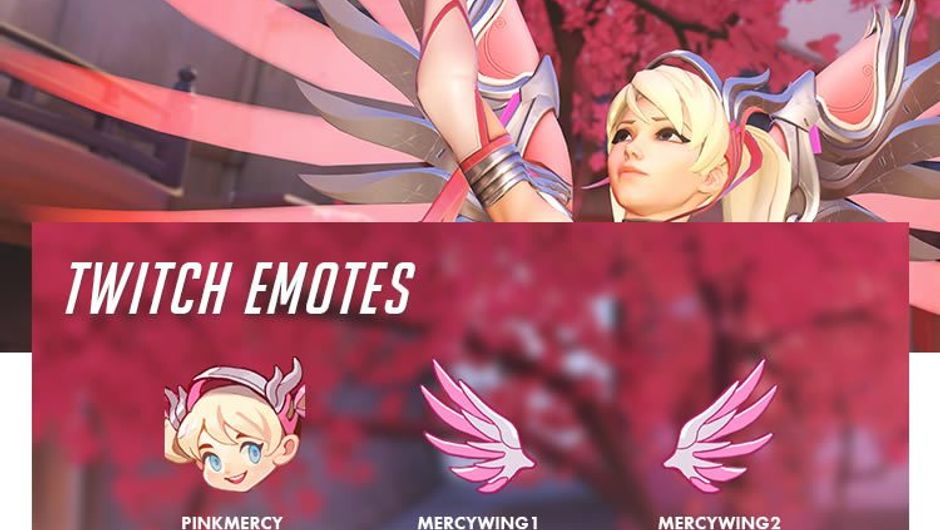 Twitch emotes for Overwatch's Breast Cancer Awareness event