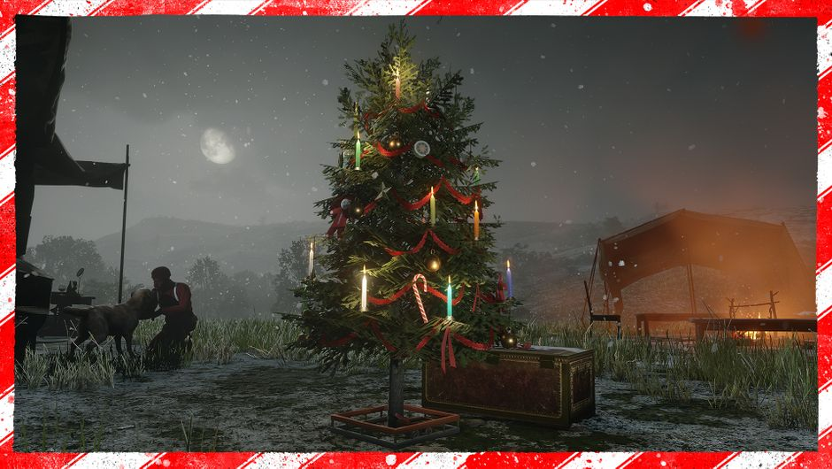 Christmas tree in Red Dead Online