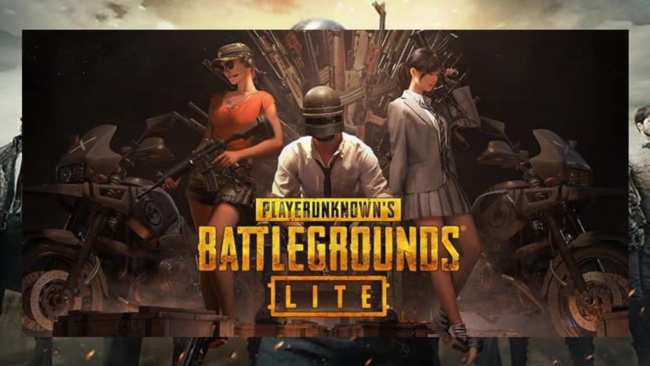 PUBG Lite Poster showing one male and two female characters