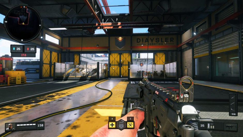A view of a robotics factory in Call of Duty: Black Ops 4