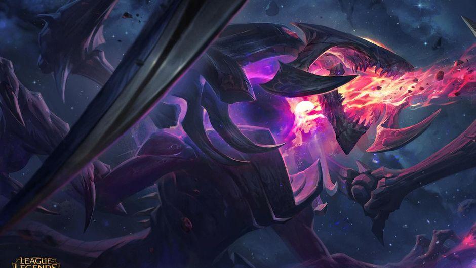 Splash art for Dark Star Cho'Gath, a skin for Cho'Gath in League of Legends