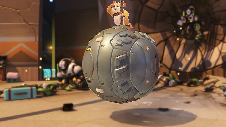 Blizzard's newly added Overwatch hero called Wrecking Ball