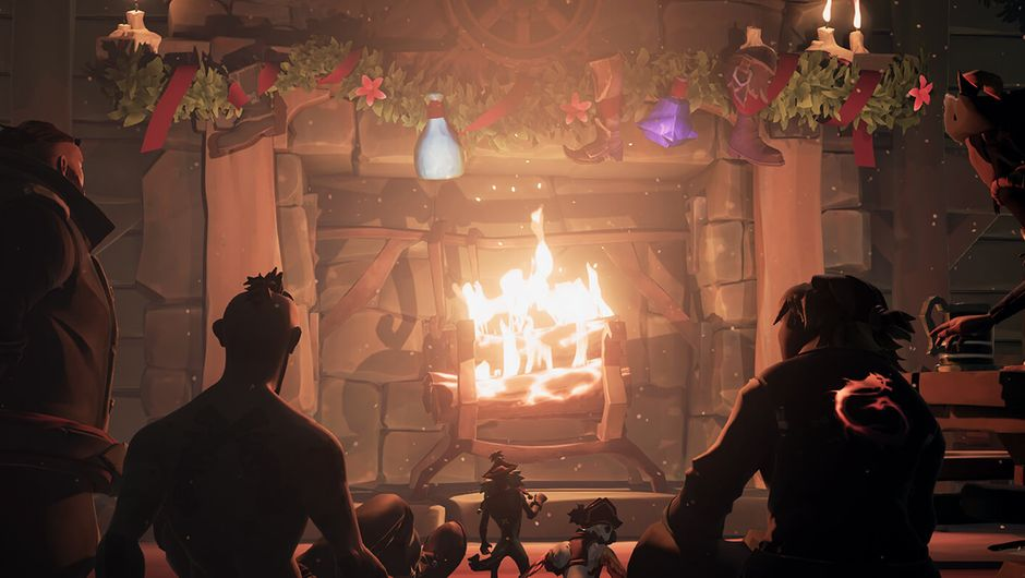screenshot showing pirates by the fire