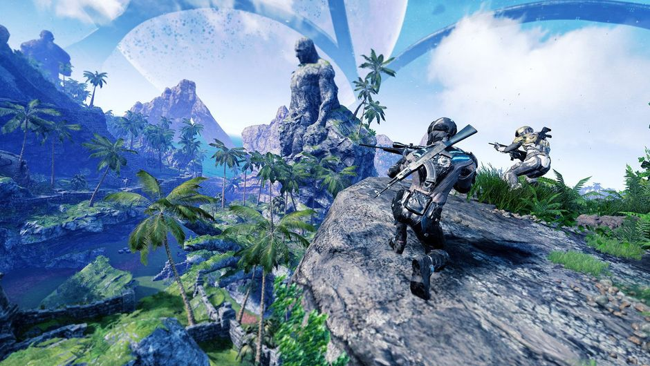 Image of Islands of Nyne combatants in the alien arena