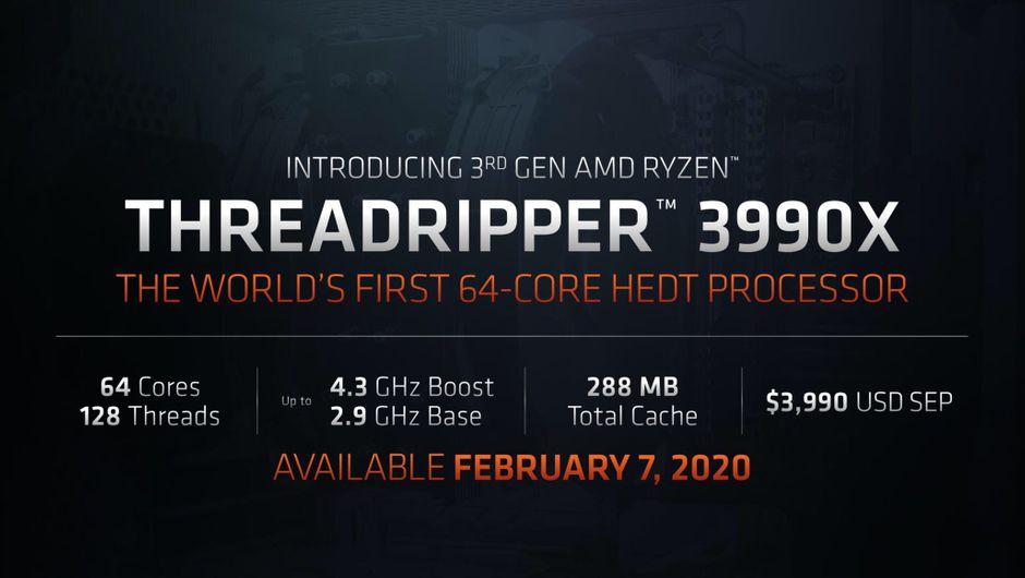 AMD Ryzen Threadripper 3990X specification