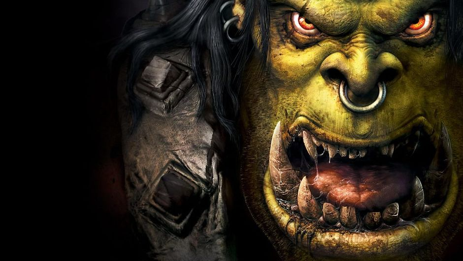 Close up of the orc character from Blizzard's game Warcraft 3