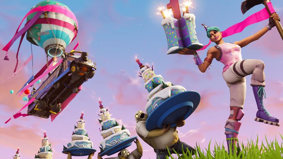 Poster for the upcoming Fortnite: Battle Royale birthday event