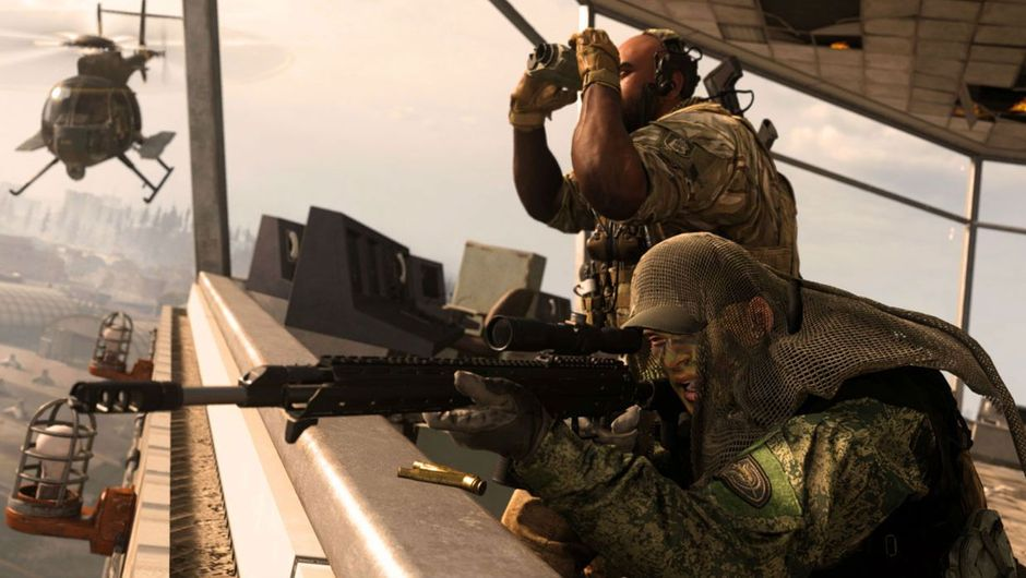 Call of Duty: Warzone screenshot showing a sniper