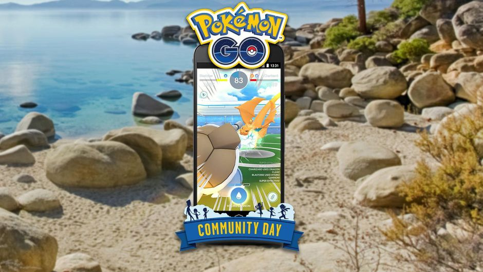 A smart phone running Pokemon Go with a beach background