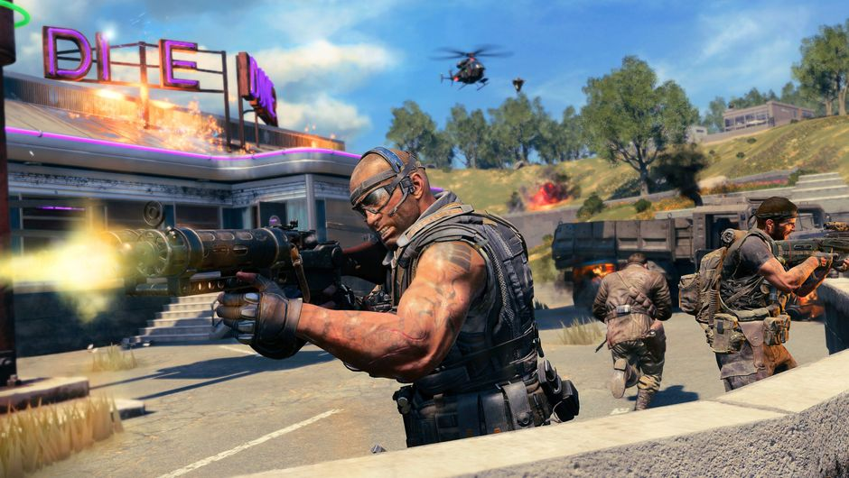 Picture of several players shooting things in Call of Duty: Black Ops 4