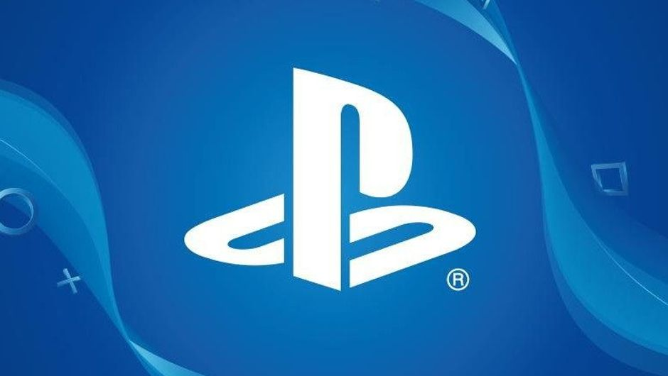 Picture of a PlayStation logo on a blue background
