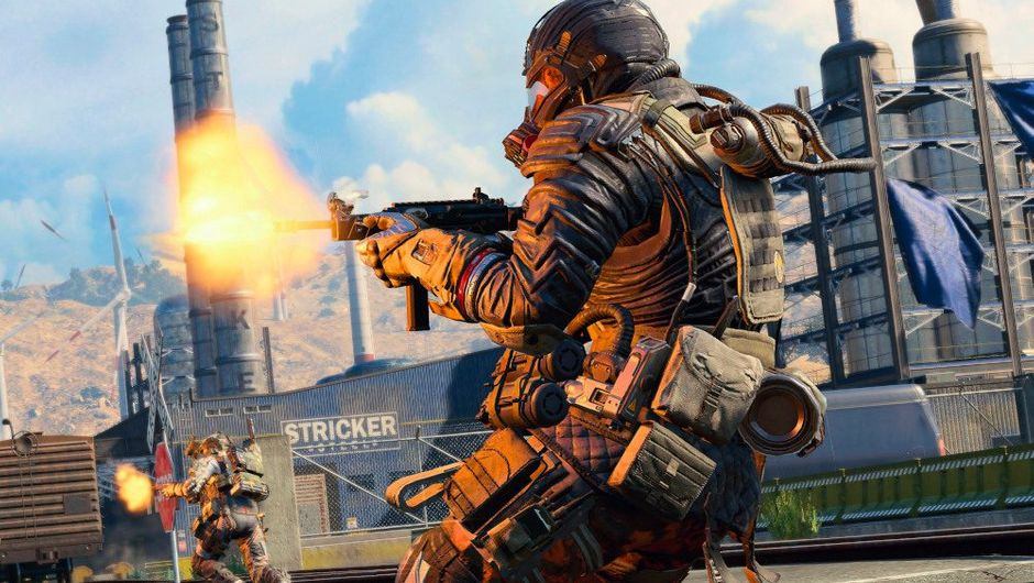 picture showing soldier shooting a gun in Call of Duty: Black Ops 4