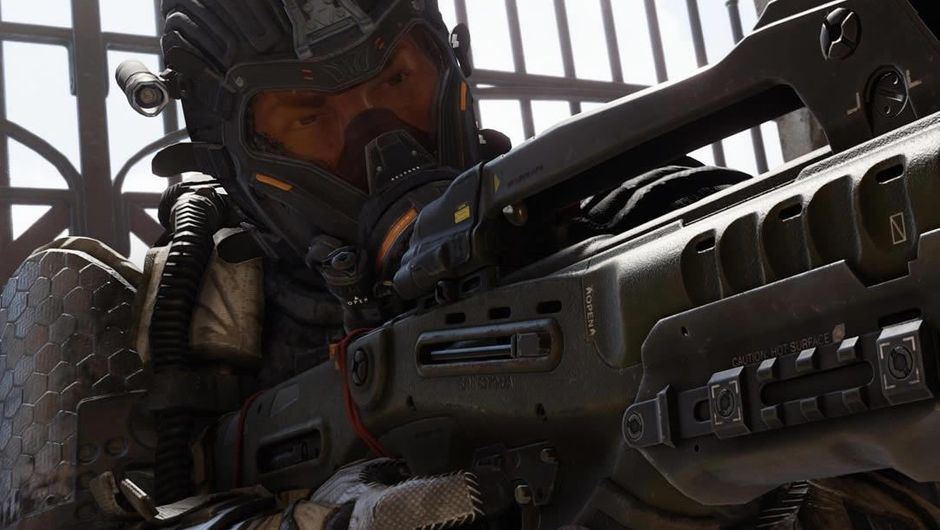 Soldier aiming a rifle in Activision's Call of Duty: Black Ops 4