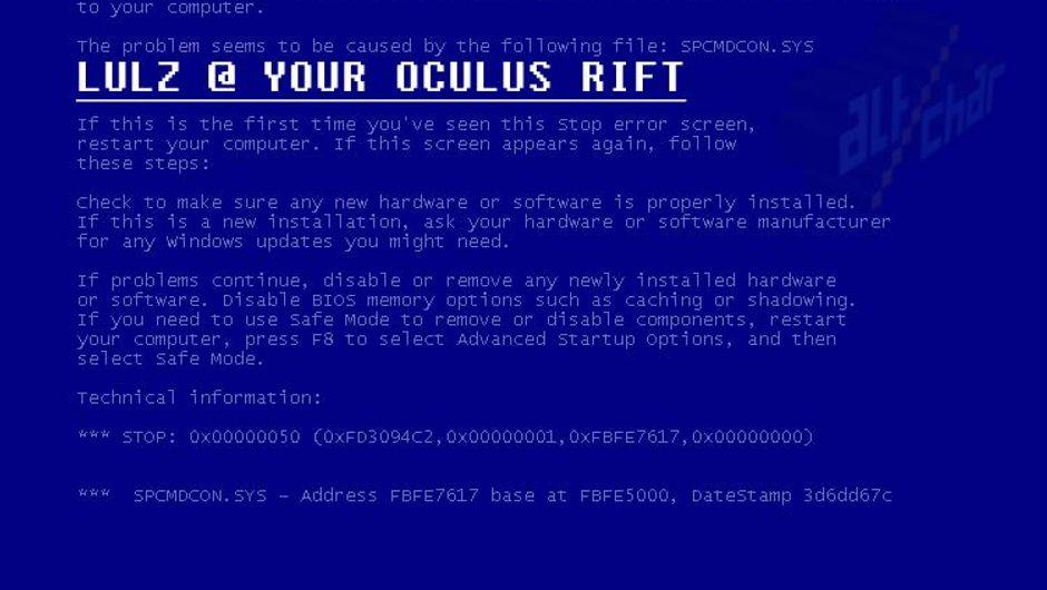 Famous blue screen of death on Microsoft Windows
