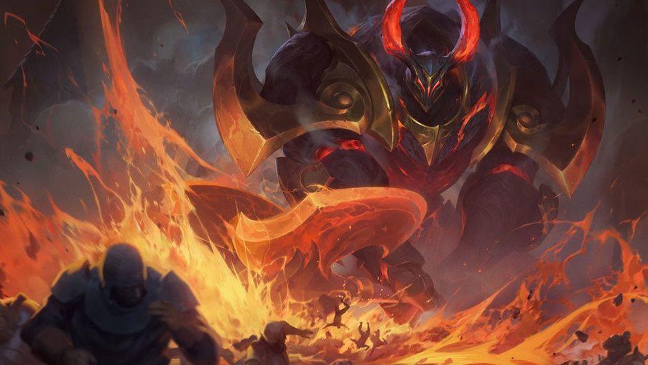 Splash art for Infernal Mordekaiser in League of Legends