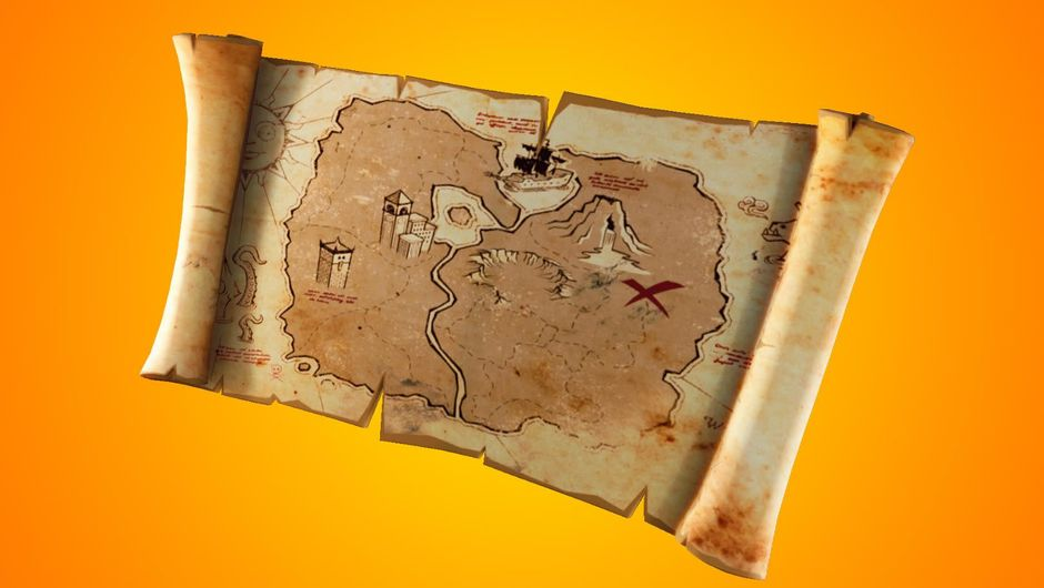 Fortnite: Battle Royale, new item - Buried Treasure map