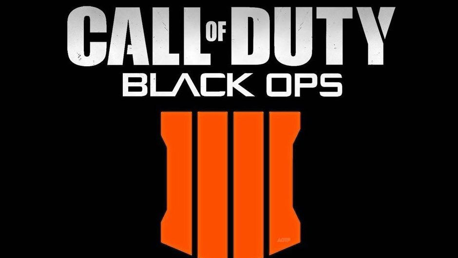Call of Duty Black Ops 4 logo looks like someone put an orange barcode below the white letters.