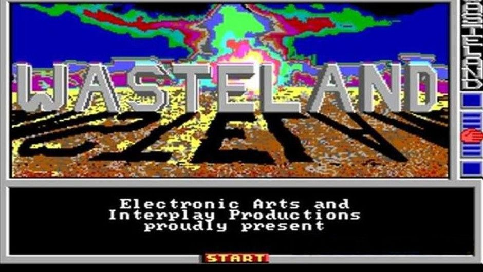 Picture of the starting menu from the original Wasteland game