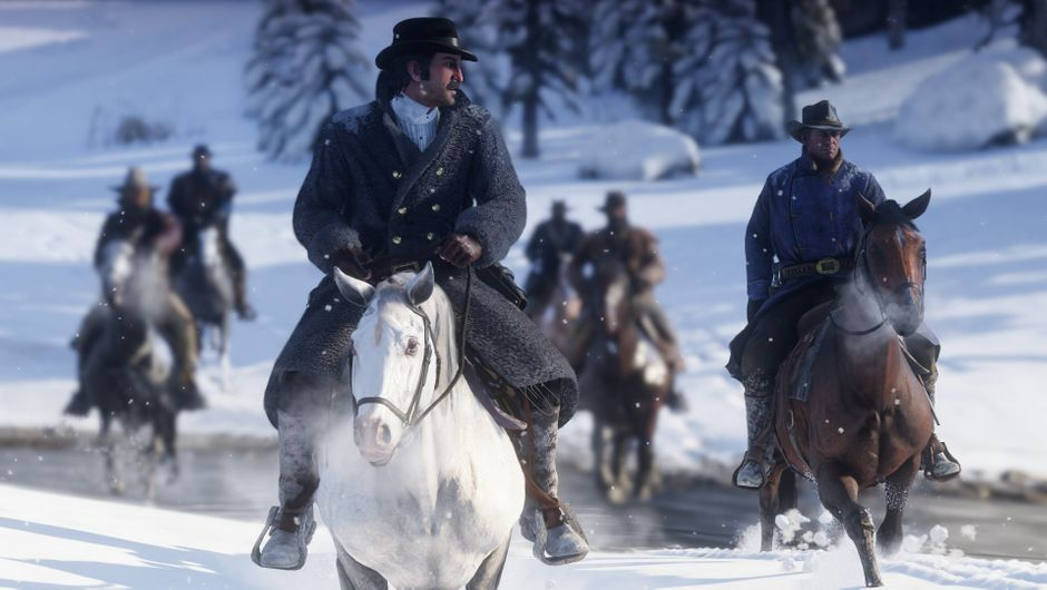 Horses and cowboys and the 7th cavalry in the snow