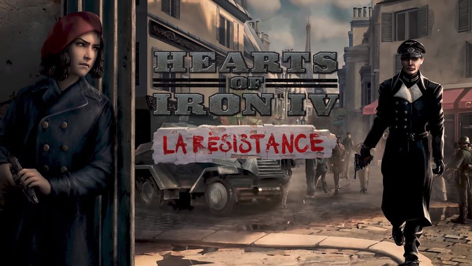 Hearts of Iron IV - La Résistance expansion promo image, screenshot from the trailer