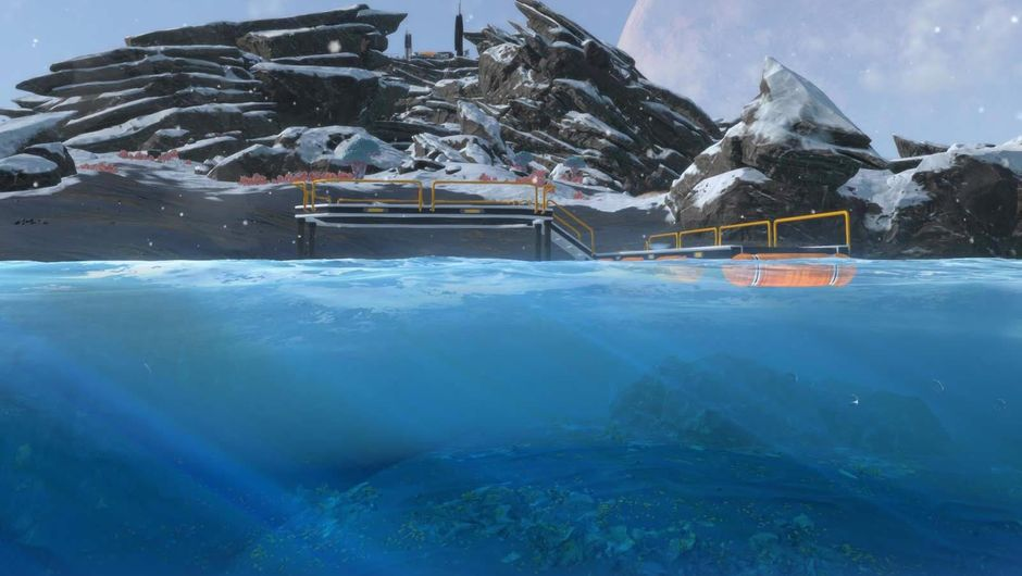 An island in Subnautica: Below Zero