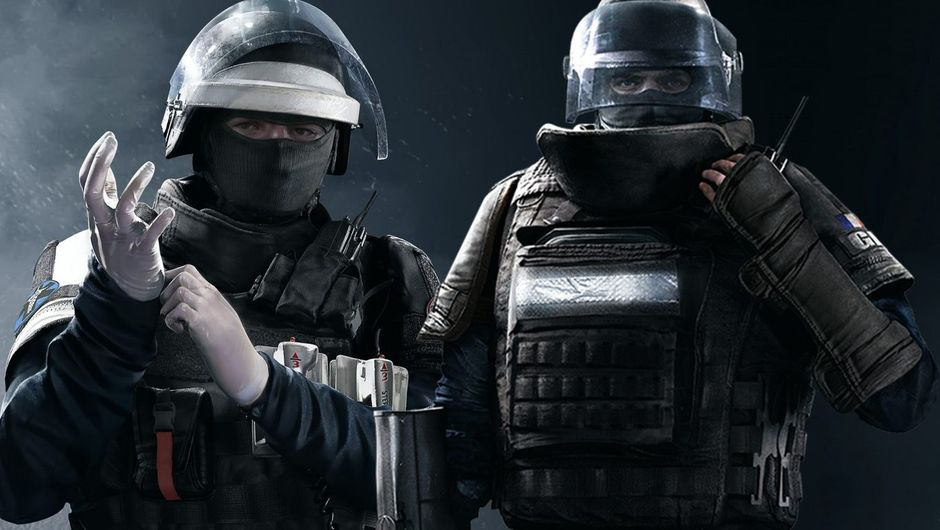 Picture showing two soldiers from Rainbow Six Siege