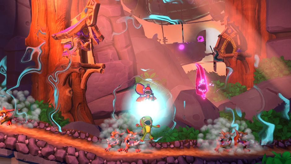 Screenshot from Yooka-Laylee and the Impossible Lair