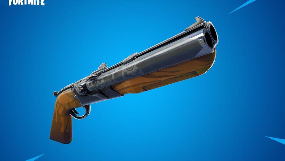 Newly added Fortnite: Battle Royale weapon, the double barrel shotgun