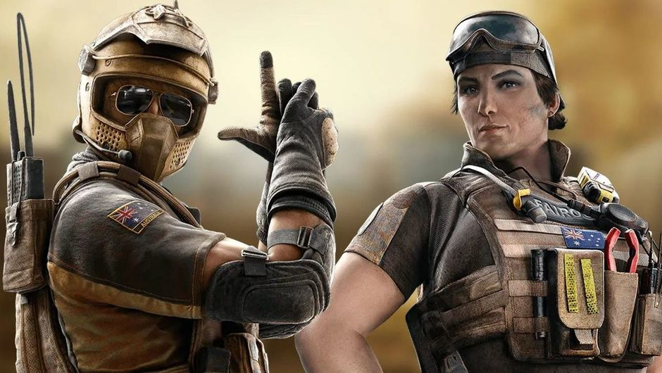 Picture of Mozzie and Gridlock in Rainbow Six Siege