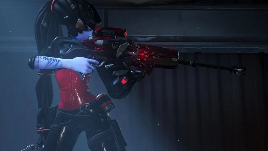 Picture of Widowmaker from Overwatch with her Noire skin