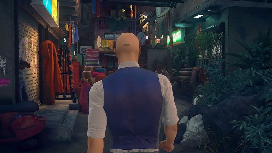 picture showin agent 47 in hitman 2