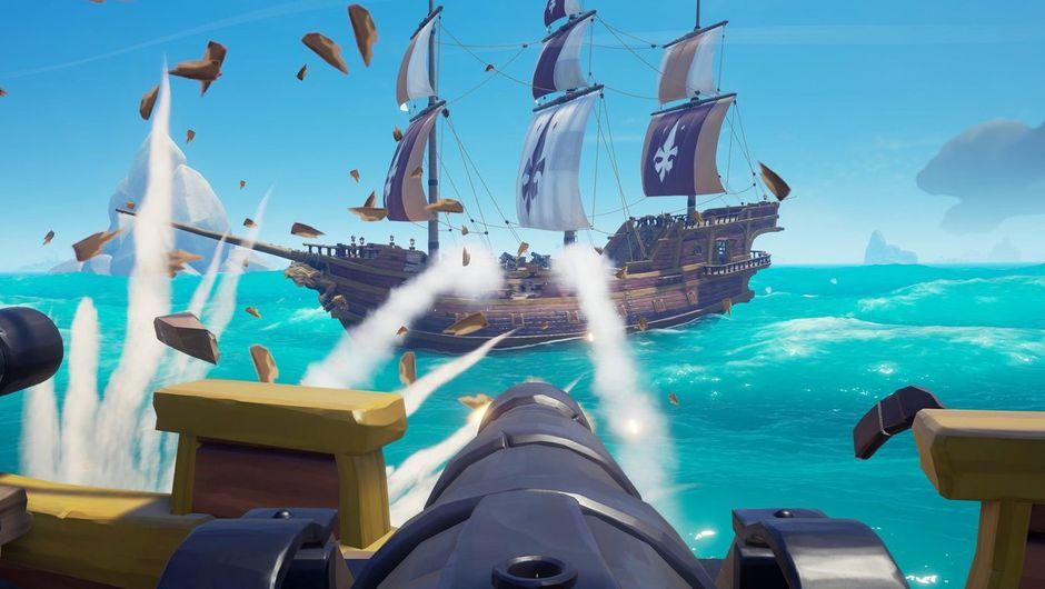 picture showing sea battle