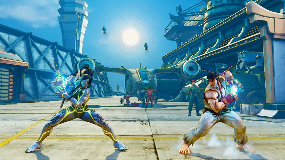 Showcase of Seth and Ryu in Street Fighter V