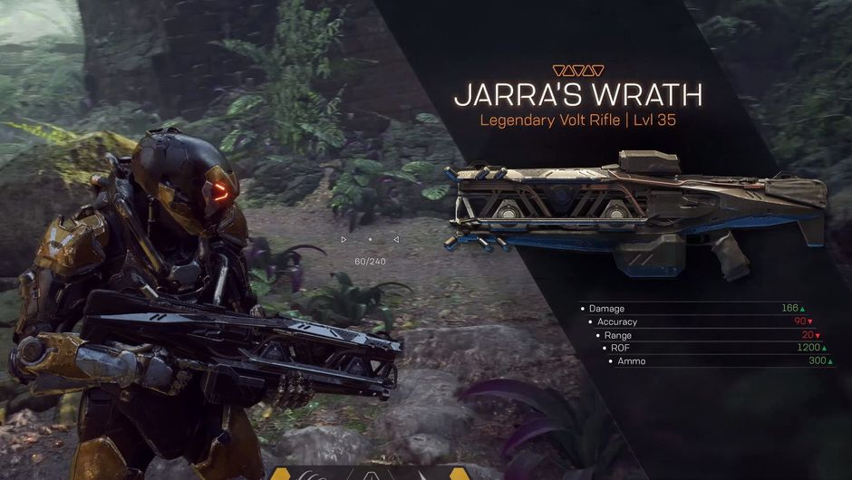 Picture of an Anthem player looting Jarra's Wrath