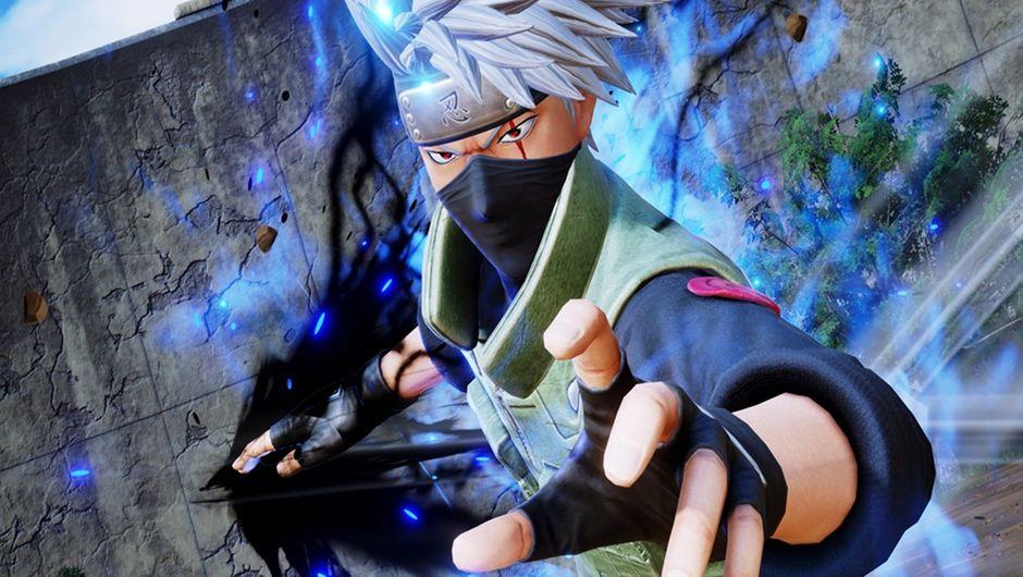 Kakashi Hatake from Naruto activating his Sharingan in Jump Force.