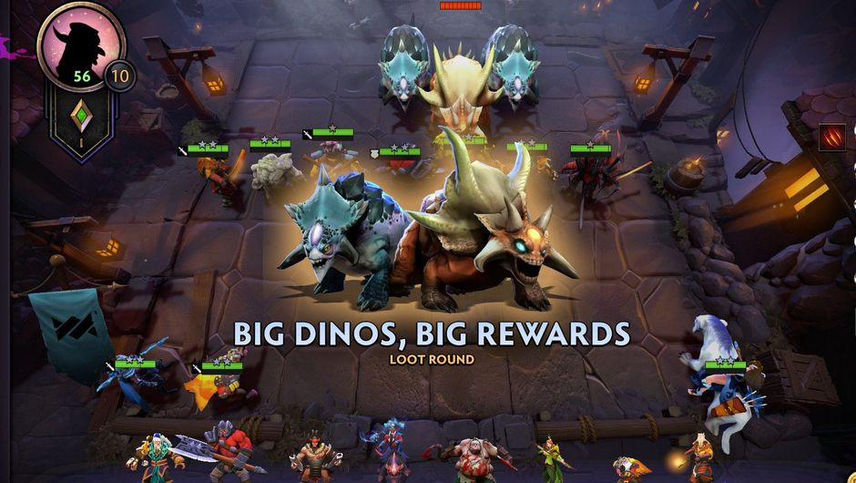 Picture of Dota Underlords loot round screen