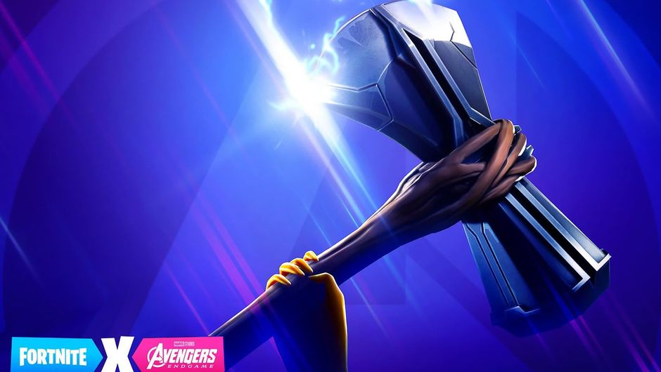 Fortnite's Avengers: Endgame tease showing the Stormbreaker