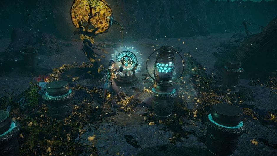 Promotional screenshot for Blight in Path of Exile